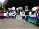 """""""1, 2, 3 und 4, die Maqanis bleiben hier!"""" - Essener solidarisch mit von Abschiebung bedrohter Roma-Familie"""
