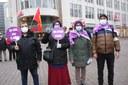Essen 8.3.2021,  Große Kundgebung zum Internationalen Frauentag in der Essener City