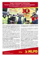 Gegen den Arbeitsplatz-Kahlschlag bei Siemens