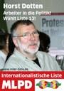Horst Dotten - Direktkandidat der Internationalistischen Liste/MLPD in EssenMitte, Norden und Osten Wahlkreis 119 - Protestiert gegen die Kriminalisierung von kurdischen Aktivisten
