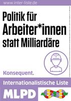 Korrespondenz vom Wahlkampfauftakt der Wählerinitiative Essen-Mülheim der Internationalistischen Liste/MLPD am 31.8.2017 auf dem Willy-Brandt-Platz in Essen