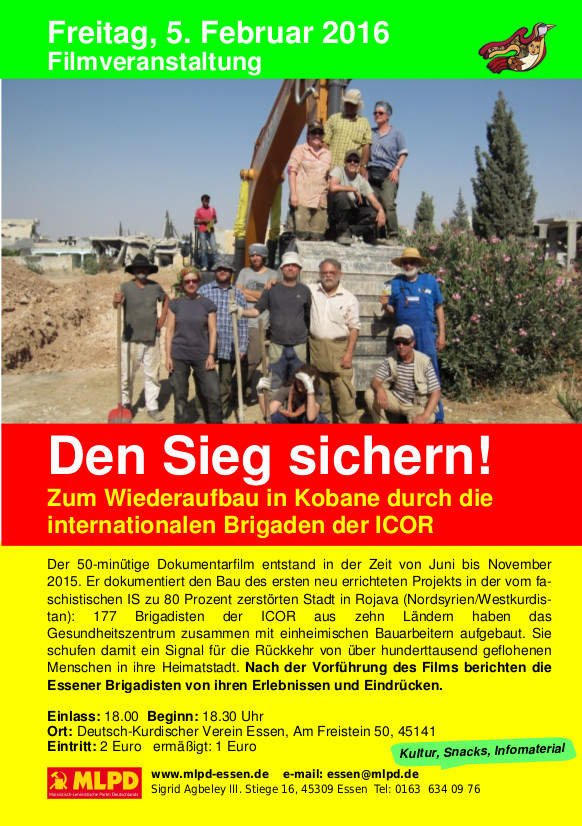 """""""Wir müssen lernen, auch in Deutschland so eng zusammen zu kämpfen"""" (Korrespondenz von der Veranstaltung der MLPD Essen am 5.2.16)"""